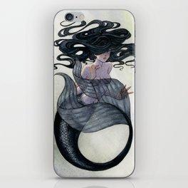 Black Mermaid iPhone Skin