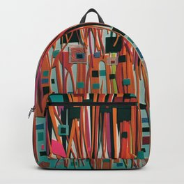 Confection- Mixed Media Modern Fantasy Collage Backpack