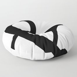 Typography, Ampersand, And Sign Floor Pillow