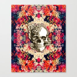 You are not here Day of the Dead Rose Skull. Canvas Print