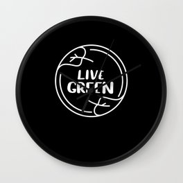 Live Green Climate Wall Clock