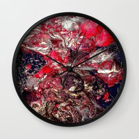 carnage Wall Clocks featuring Carnage by Jeni Decker