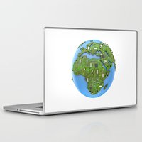 data Laptop & iPad Skins featuring Data Earth by GrandeDuc