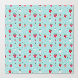 StrawberryPattern Canvas Print