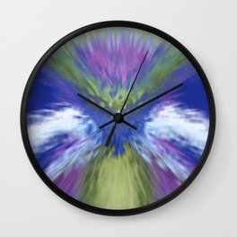 At The Speed of Blue Wall Clock
