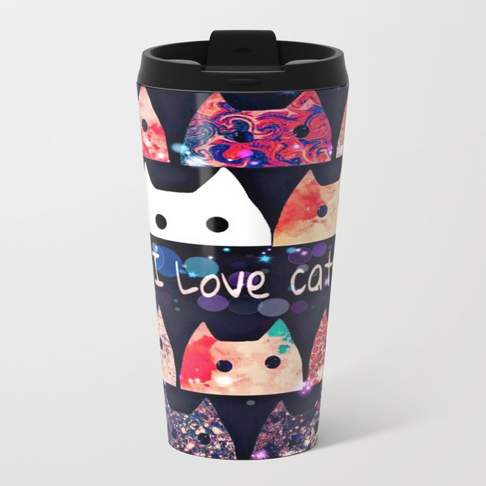 cat-214 Metal Travel Mug