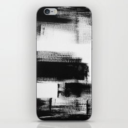 No. 85 Modern abstract black and white painting iPhone Skin
