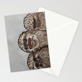 Frogmouth Chicks Stationery Cards