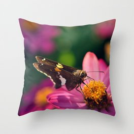 Silver-spotted Skipper Throw Pillow