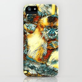 AnimalArt_Gibbon_20170901_by_JAMColorsSpecial iPhone Case