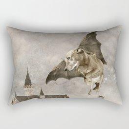 Indie Dog in Flight Rectangular Pillow
