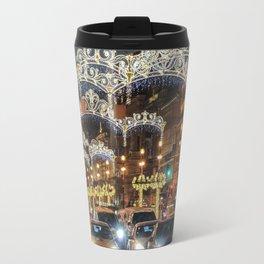 Light decorations on Nevsky Prospect. Travel Mug