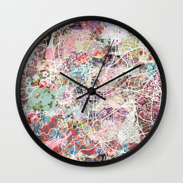 Clermont-Ferrand map Wall Clock