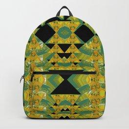 Elegant Green & Gold Geometric Backpack