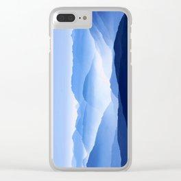 Blue Mountain Horizon Clear iPhone Case