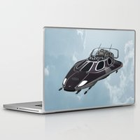 spaceship Laptop & iPad Skins featuring Spaceship by Design Windmill