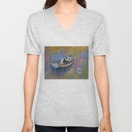 Panda Moon Unisex V-Neck
