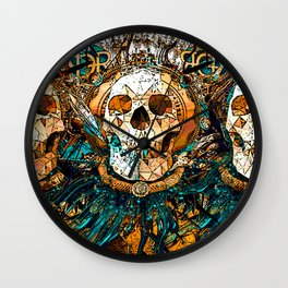 Old Skull Wall Clock