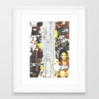 persona Framed Art Prints featuring Persona Solara by Antimatéria