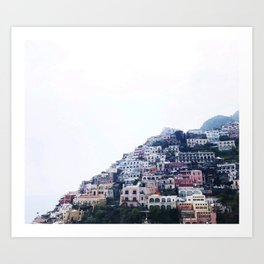 Colorful Amalfi Coast Art Print