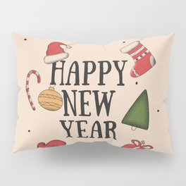 New Year, Cristmas, winter holidays Pillow Sham