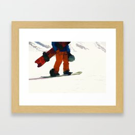 Ready to Ride! - Snowboarder Framed Art Print