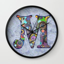 The Letter M Wall Clock