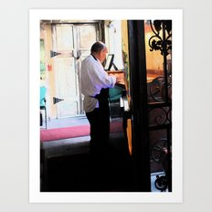 New Orleans Waiter Art Print