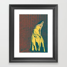 Lady in Yellow Dress Framed Art Print