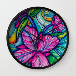 She's a wildflower Wall Clock