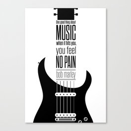 Lab No. 4 - Guitarist Inspirational Music Quotes Poster Canvas Print