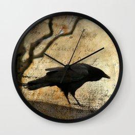 Crow Caws Wall Clock