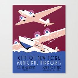 City of New York municipal airports Canvas Print