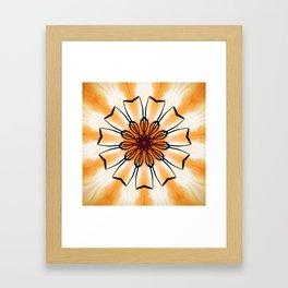 Marigold Flower Mandala Design Framed Art Print