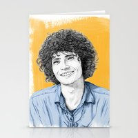 tim shumate Stationery Cards featuring Tim Buckley by Daniel Cash