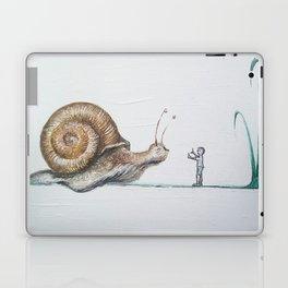 snail and little boy Laptop & iPad Skin