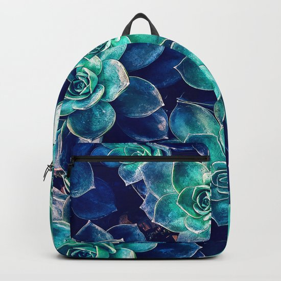 Plants of Blue And Green Backpack