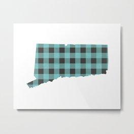 Connecticut Plaid in Mint Metal Print