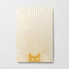 Cat Landscape 96: Good Meowning Metal Print
