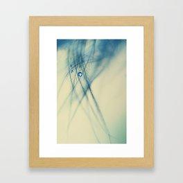 feather blue Framed Art Print