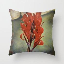 Churchyard Flower Throw Pillow