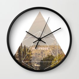Hollywood Sign - Geometric Photography Wall Clock
