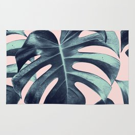 Tropical Monstera Leaves Dream #3 #tropical #decor #art #society6 Rug