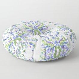 Blue Medallion Floor Pillow