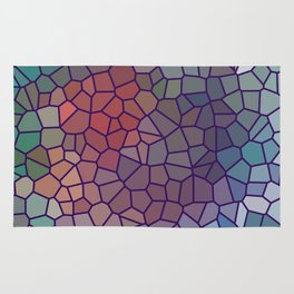Jewel Tone Stained Glass Rug