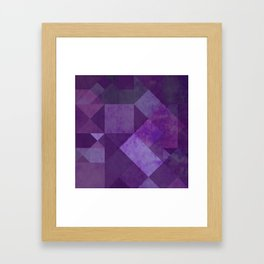 Purple Squares Framed Art Print