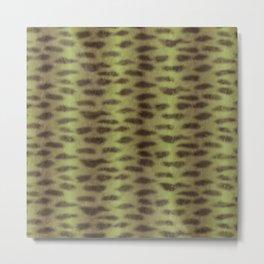 Tiger Shark Skin (Green) Metal Print