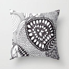 Zen Doodle Graphics zz04 Throw Pillow