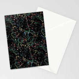 Splat Color Black R Stationery Cards