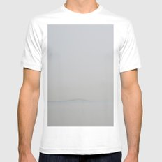 August (Lisbon) MEDIUM White Mens Fitted Tee